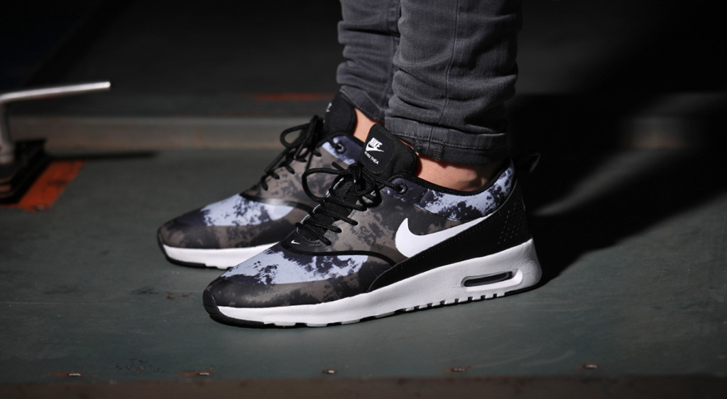 Nike Wmns Air Max Thea Print BlackWhite DarkGrey | AFEW
