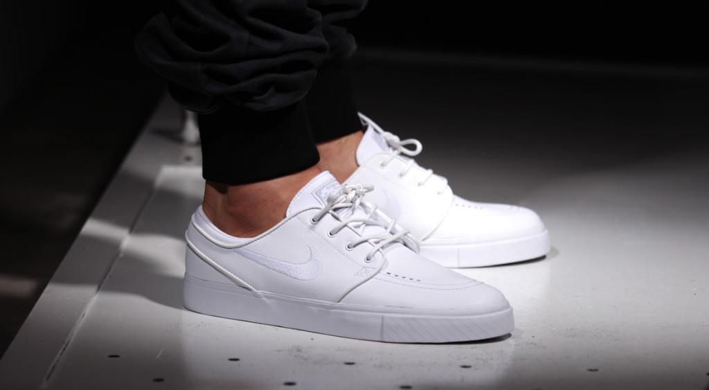 Nike Stefan Janoski Weiß Leder
