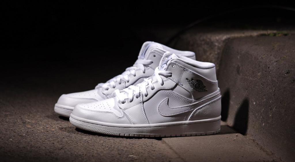 Nike Jordan 1 Mid Weiß