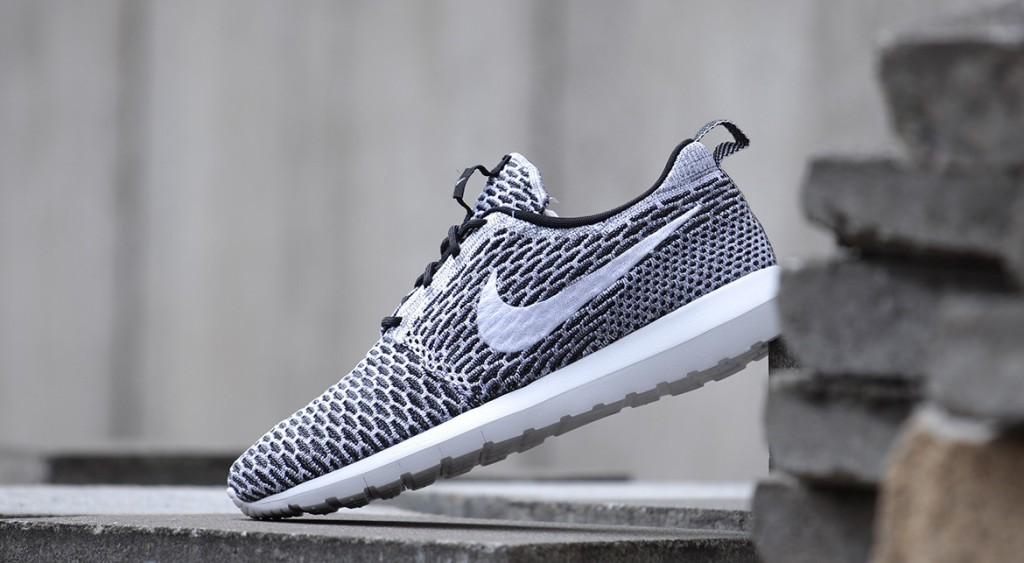 Nike Roshe Run Flyknit Grau Damen