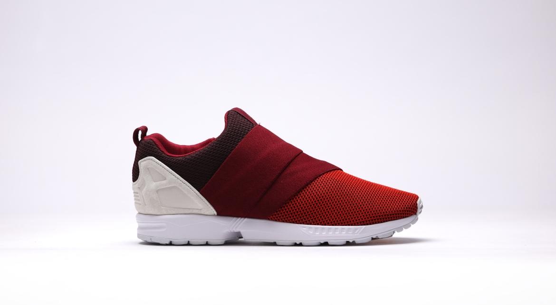 Adidas ZX Flux Slip On Burgundy Red RedCollegiateBurgundyOffWhite