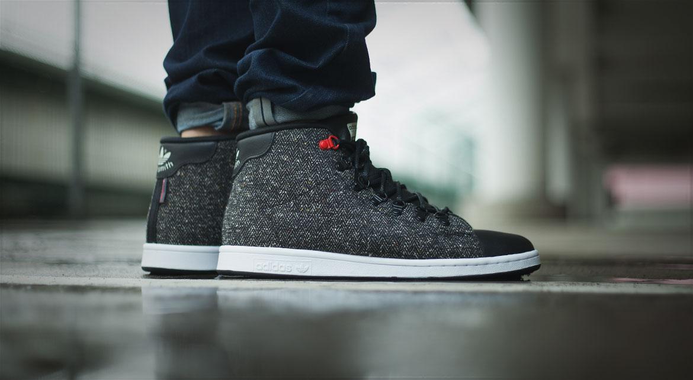 Adidas Stan Smith Winter Core Black Core BlackRWhiteRed