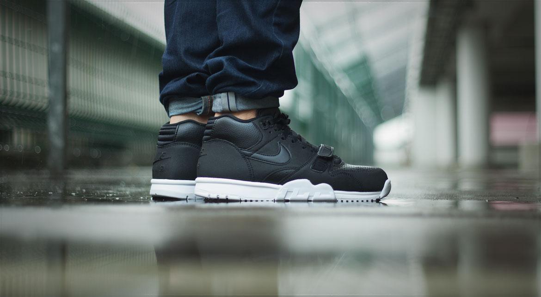 Nike Air Trainer 1 Mid Black Leather BlackBlackwhite