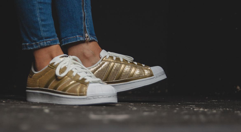 Adidas Superstars Goldene Streifen