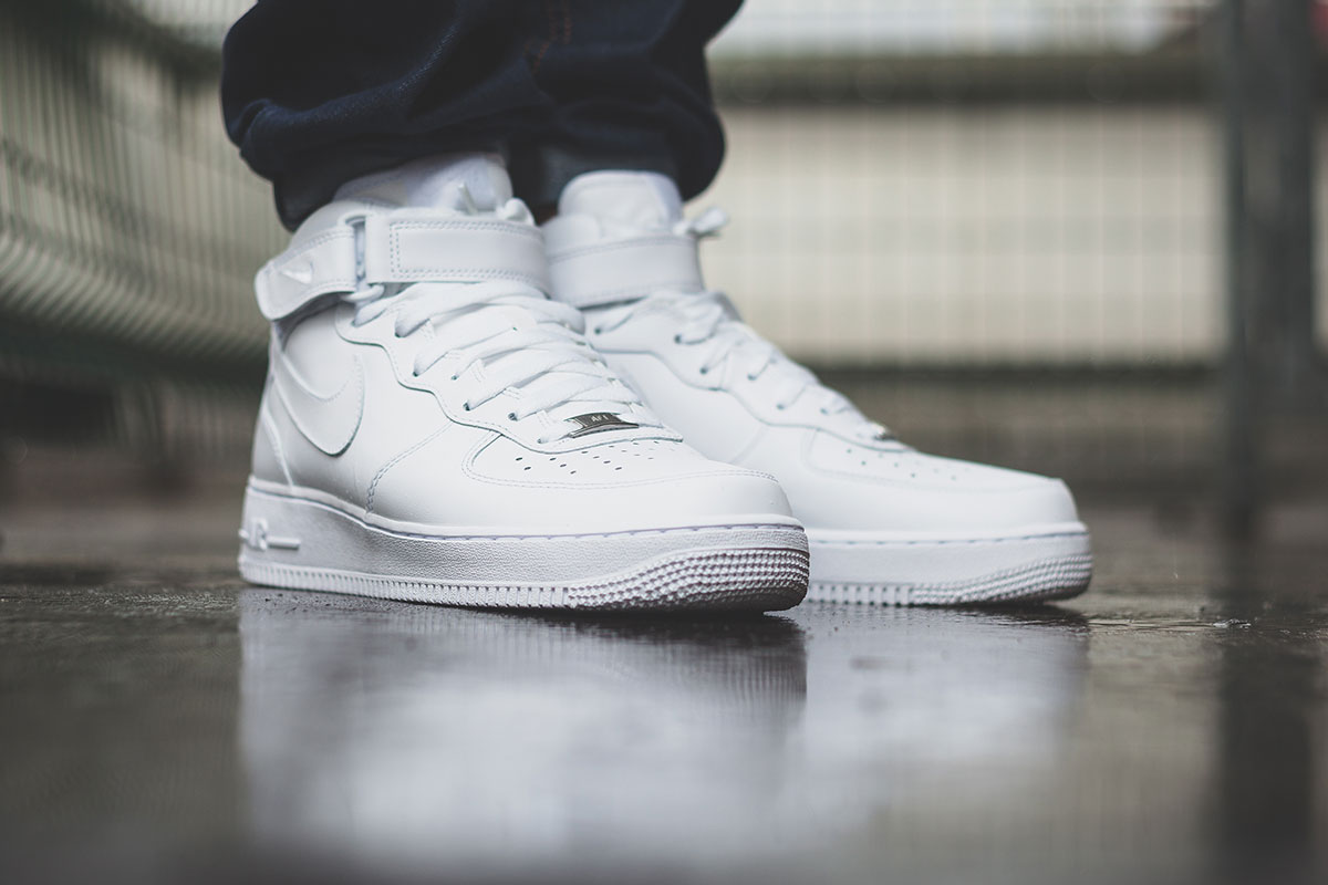 Nike air force 1 mid 07 white afew store newsblog for Schuhschrank nike