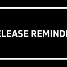 Release Reminder fürs kommende Wochenende