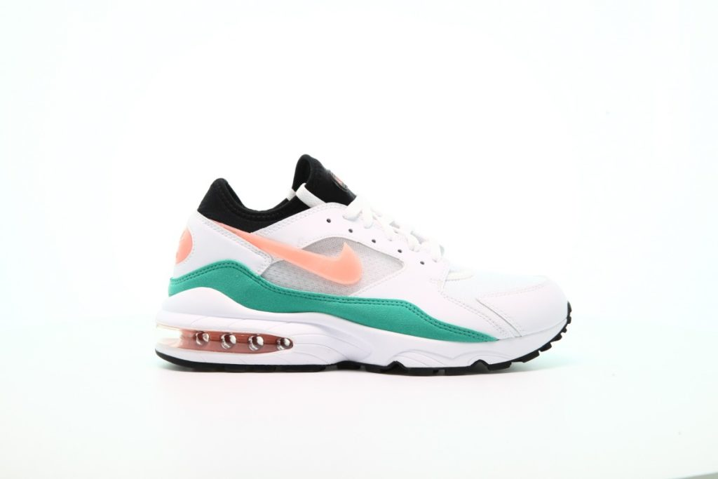 afew-store sneaker nike air max 93 white-crimsonbliss-kineticgreen-black watermelon