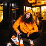AFEW X BEAMS X ASICSTIGER Gel-Lyte III apparel Photoshooting by Night in Düsseldorf Japan Area Viertel