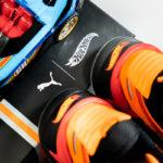 Puma X Hot Wheels RS-X Camaro Sneaker photoshooting mit Hot Wheels Bahn